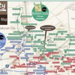 金沢工業大学の学生らが作った英語版パンフレットのひとつ「コミュニティバスのっティ時刻表」より