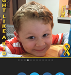 Be Brave Childhood Cancer Awareness Photo Frames
