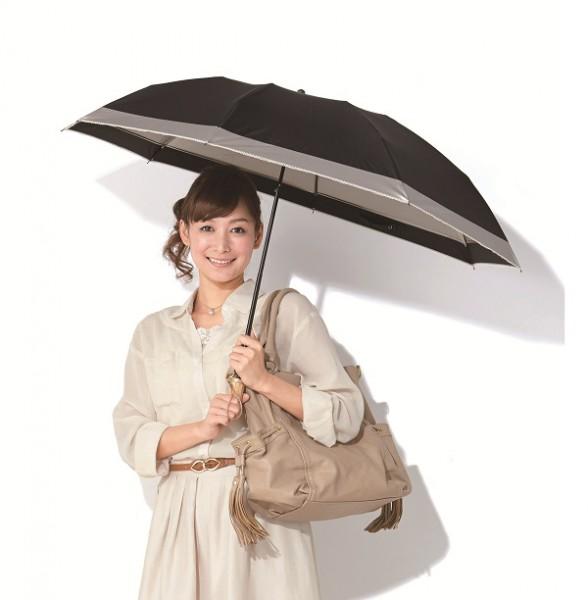 晴雨兼用アシンメトリー折りたたみ傘