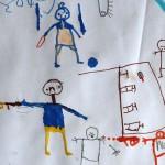 親や兄弟を目の前で殺された子どもたちが描いた絵