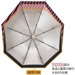 片面が広くなった傘