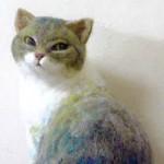 マルハウス(京都)出展:フェルトの猫さん