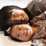 あ~ちゃんの虹、あ~ちゃんと母ちゃんの写真