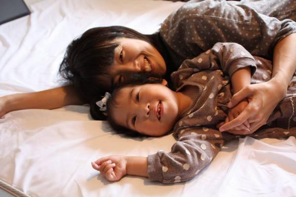 母ちゃんと一緒  写真提供:林智子さん