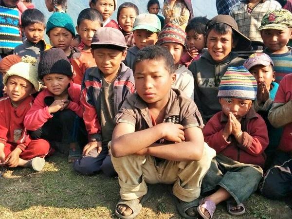 ラプラック村の子どもたち=撮影・Junさん