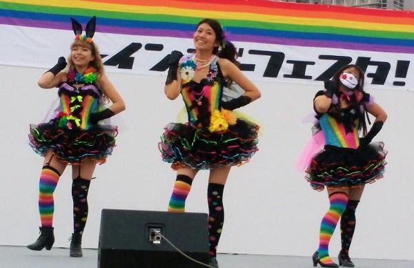 2015年10月10日「レインボーフェスタ!2015」の会場にて=撮影・松中みどり