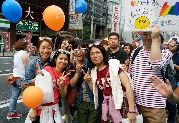 2015年10月10日関西レインボーパレードにて=撮影・松中みどり