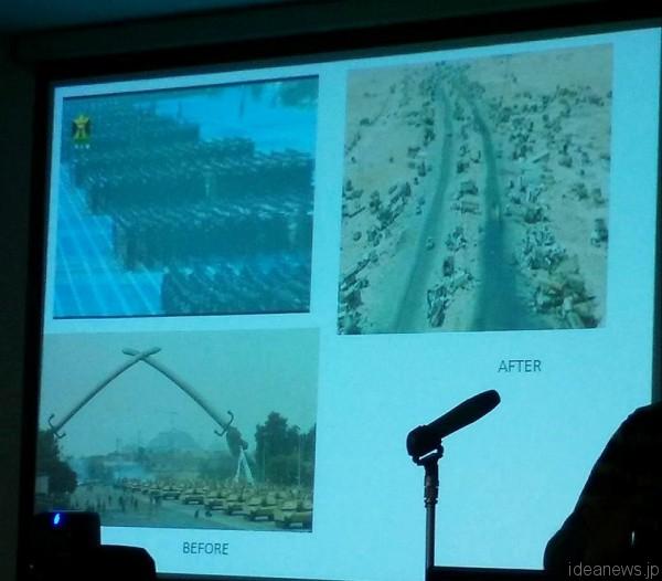 「イラク人医師 戦争と平和を語る」より=撮影・松中みどり