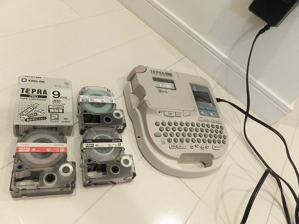 便利グッズのテプラPROとテープ