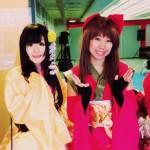 2014年秋の真田幸丸フェスティバル。左から、阿部之助、成来姫、たまき、サスケ=撮影・原町スタッフ