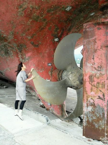 2012年7月に筆者が気仙沼を訪れた時の写真
