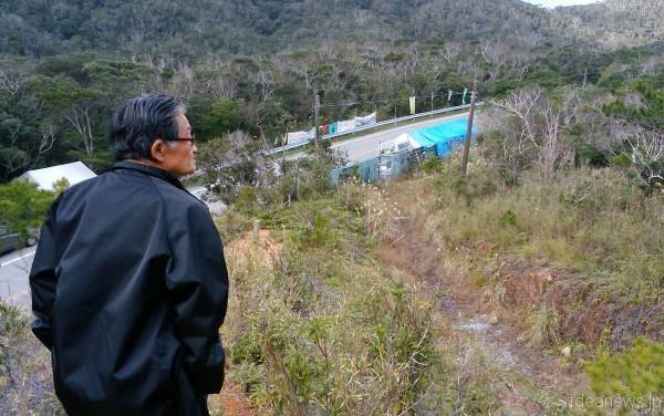 森のことや、これまでの平和運動のことについて教えてくださった松葉さん=撮影・松中みどり