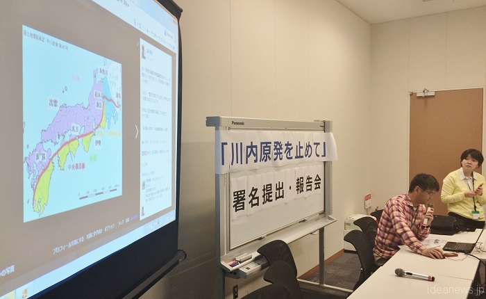 TAKAGI explained his ideas at the meeting with the press.(Photo by ideanews HASHIMOTO Masato)