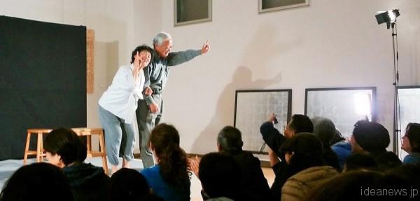 2016年3月27日「沖縄愛楽園交流会館」の舞台=撮影・松中みどり