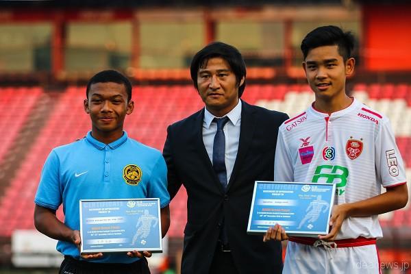 「U14 ASEAN Dream Football Tournament」では大会アンバサダーをつとめる=写真提供・JDFA