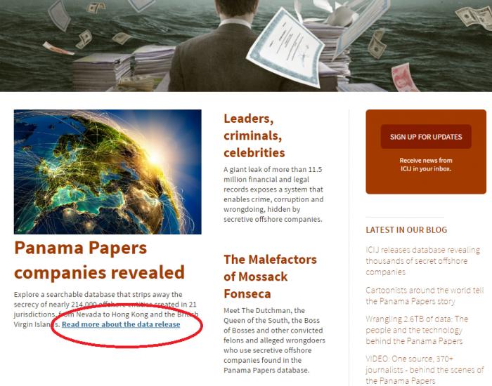 どれか1つの記事をクリック=ICIJのページより