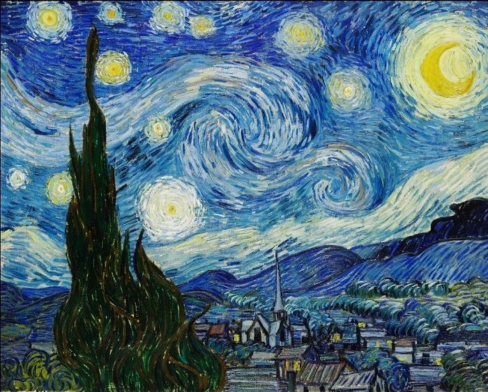 ゴッホ作品「星月夜」
