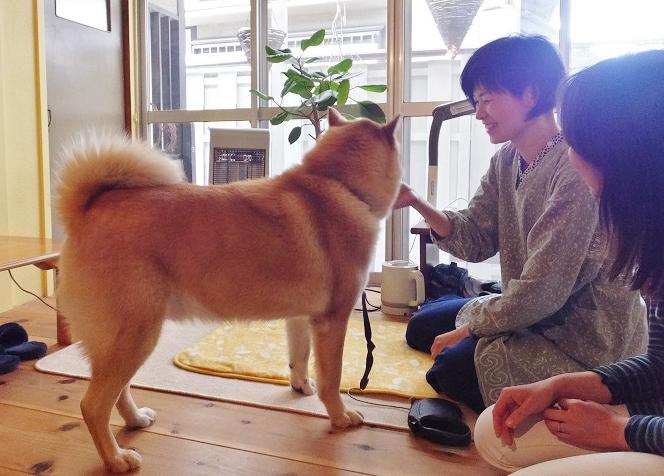 おんく堂、萩原未央先生とレオくん=撮影・きたあつこ