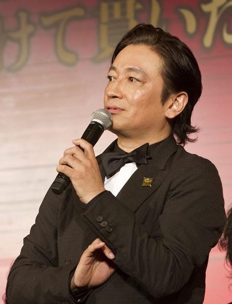 エンジニア役の駒田一さん=ミュージカル『ミス・サイゴン』製作発表より、撮影・岩村美佳