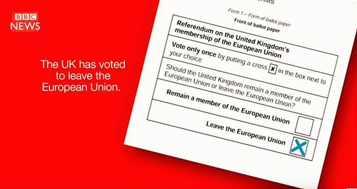 投票用紙(BBC ビデオより)