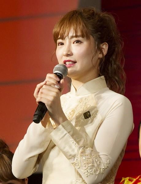 キム役の笹本玲奈さん=ミュージカル『ミス・サイゴン』製作発表より、撮影・岩村美佳