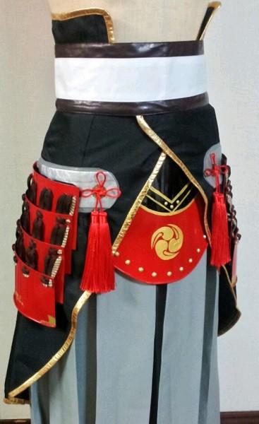刀剣乱舞「和泉守兼定」の衣装の甲冑=撮影・Lapis
