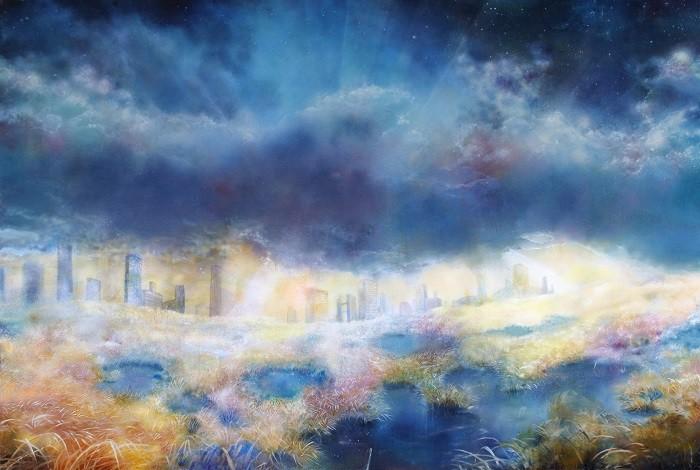 葛西茉耶さんの作品「広がる草原の風景」