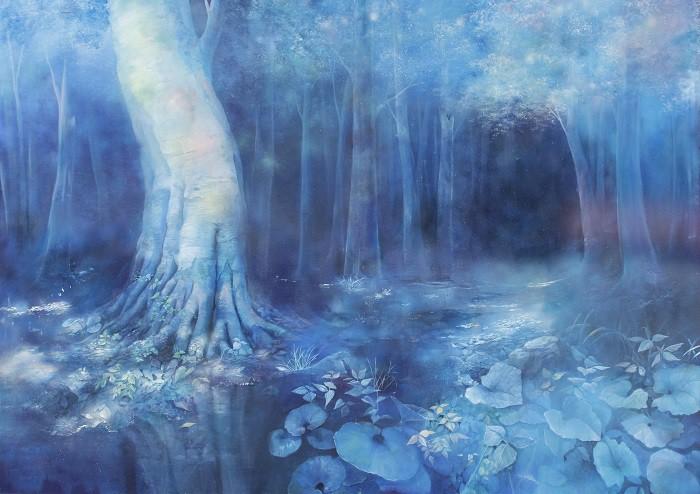葛西茉耶さんの作品「樹木のある風景」