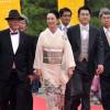 レッドカーペットを歩くオープニングセレモニー=写真提供・なら国際映画祭