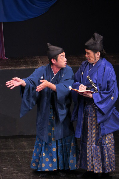 THE REDFACE公演「羅馬から来た、サムライ」より=撮影・堀江男二