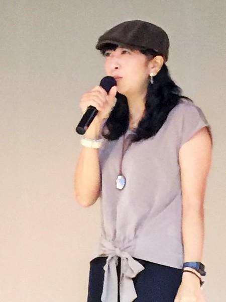 2016年9月23日 城間真弓さん=撮影・白井宏明さん