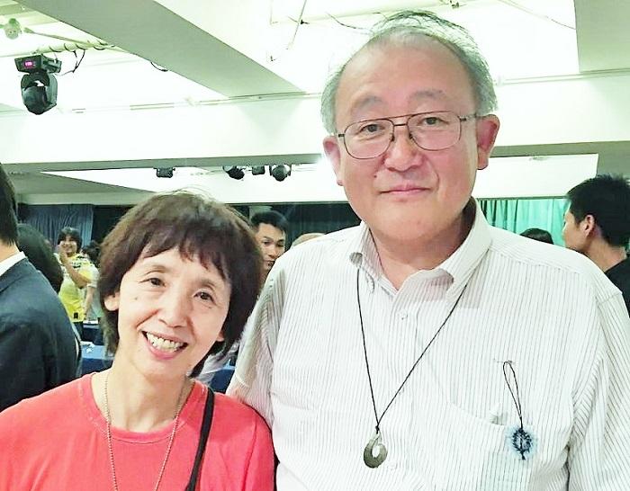 「銀河の雫」初上映主催の佐藤とよ子さん・佐藤茂雄さん=撮影・岩崎靖子さん