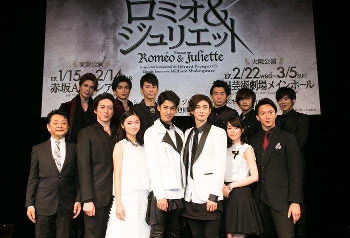 ミュージカル 「ロミオ&ジュリエット」製作発表より=撮影・岩村美佳