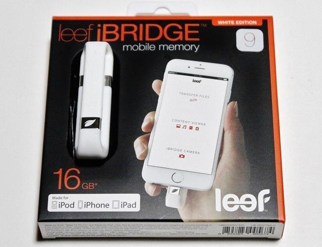 iPhoneの外付けメモリ「leef iBRIDGE」=撮影:アイデアニュース・橋本正人