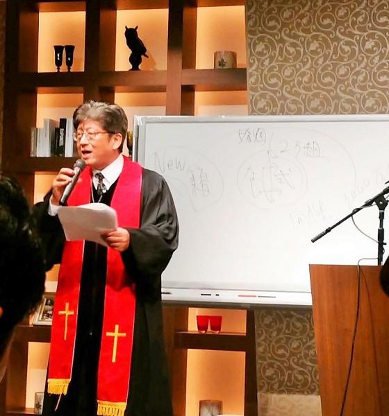 ブライダルセミナー講師岸本誠さん2017年1月24日=撮影・松中みどり