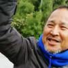 山城博治さん 2016年1月辺野古の座り込み現場にて=撮影・松中みどり
