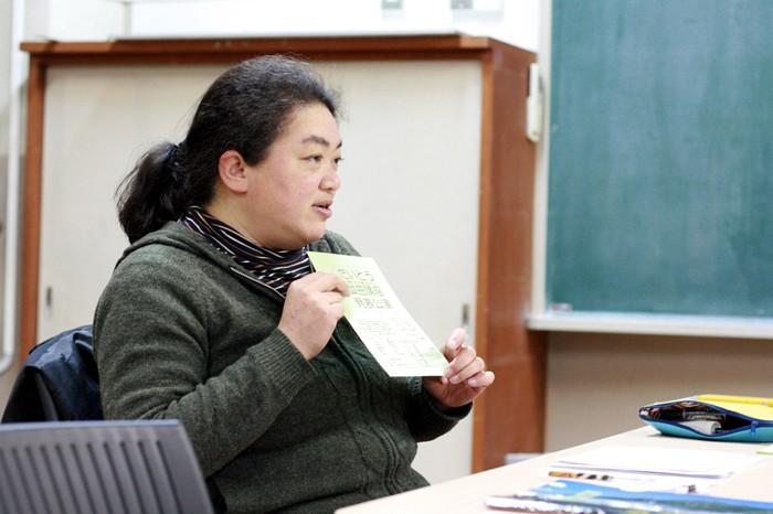 講師の高橋恵さん=桝郷春美撮影