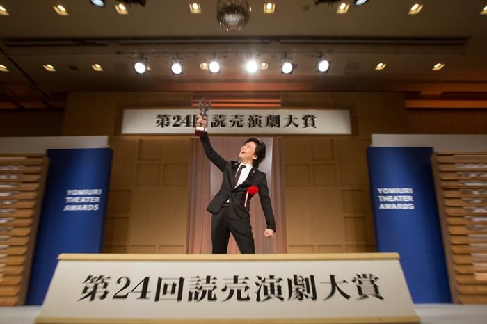 読売演劇大賞授賞式にて=(C)えんぶ、撮影・岩村美佳
