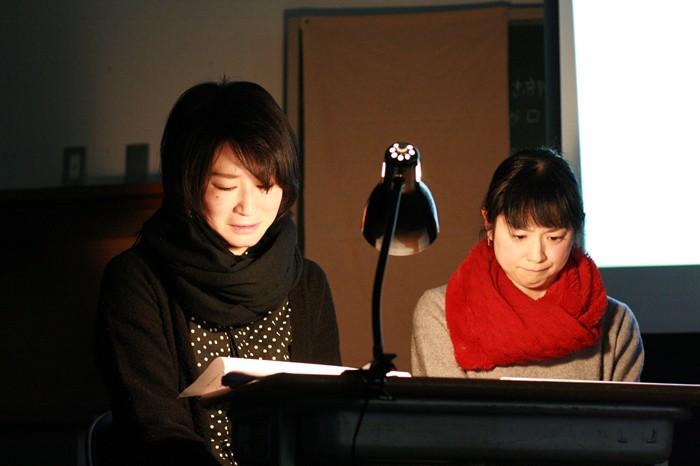 第1回だいとう戯曲講座発表公演『はぐれるわけにはいかないの』(上坂京子さん作)より=桝郷春美撮影