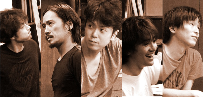 (左から)坂本健さん、渡辺芳博さん、三上陽永さん、杉浦一輝さん、高橋玄太さん=撮影・達花和月