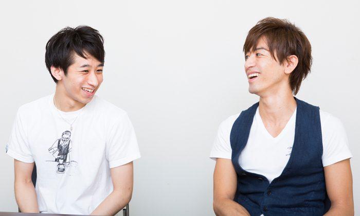 青山航士さんと工藤広夢さん=撮影・伊藤華織