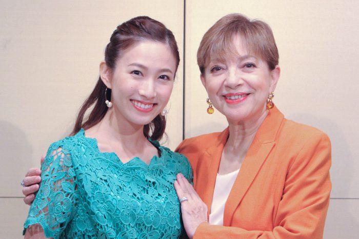 鳳蘭さんと実咲凜音さん=撮影:アイデアニュース・橋本正人