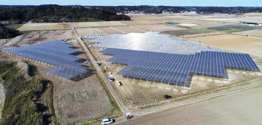 建設中の「匝瑳メガソーラーシェアリング第一発電所」=ソーラーシェアリング収穫祭ホームページより
