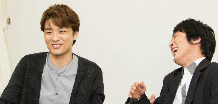 井上芳雄さんと成河さん=撮影・岩村美佳