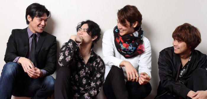 「Adam's」の4人(写真左から大田翔、上原理生、山田元、木暮真一郎のみなさん)=撮影・伊藤華織