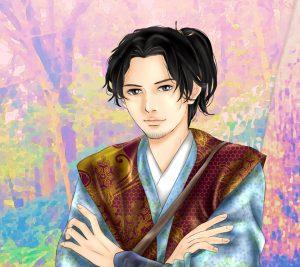 『龍起伝』楠木正成のAndroid用壁紙(960×854)=画・anji56
