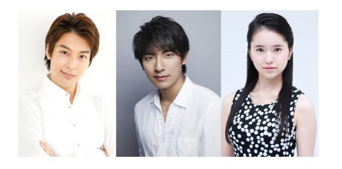ミュージカル『ポストマン』に出演する海宝直人さん、上山竜治さん、小南満佑子さん(50音順)