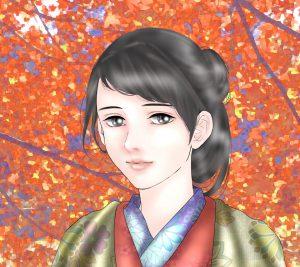 『龍起伝』久子のAndroid用壁紙(960×854)=画・anji56