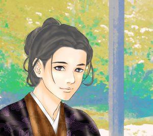 『龍起伝』大塔宮のAndroid用壁紙(960×854)=画・anji56
