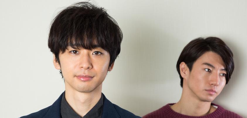 矢崎広さんと橋本淳さん=撮影・岩村美佳